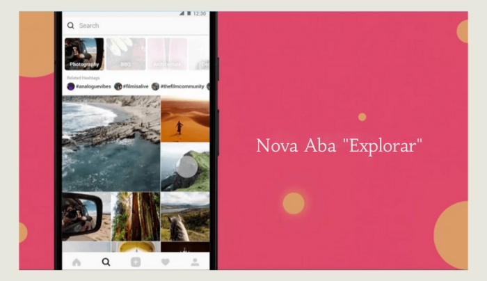 Nova Aba Explorar - FAMA Marketing Digital
